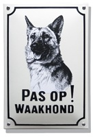 Emaille waakhond bord Herdershond