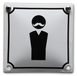 Emaille toiletbord Heren