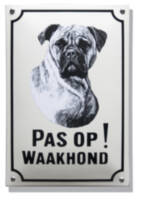 Emaille waakhond bord Boxer
