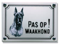 Emaille waakhond bordje Deense Dog