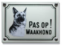 Emaille waakhond bordje Herdershond