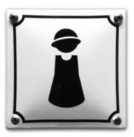 Emaille toiletbord Dames